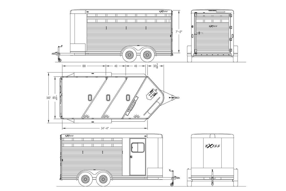 Bumper Pull Horse Trailers Express Cx Edition Horse Trailer